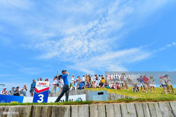 Marcus KINHULT of Sweden on the 3rd tee during the HNA French Open on July 1 2018 in SaintQuentinenYvelines France