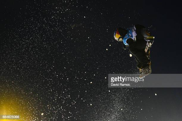 Marcus Kleveland of Norway competes in the Men's Snowboard Big Air final on day ten of FIS Freestyle Ski Snowboard World Championships 2017 on March...