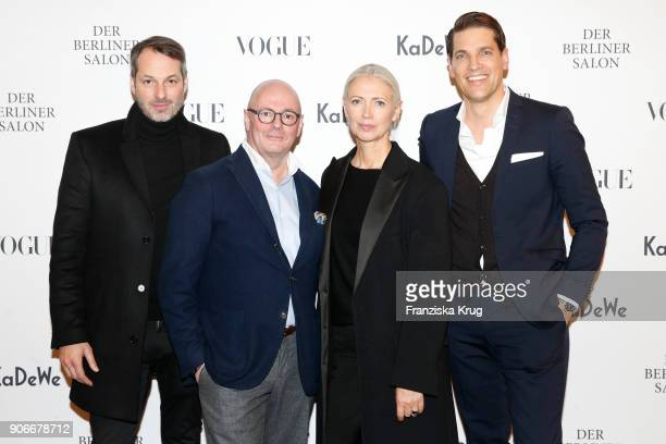 Marcus Kurz Andre Maeder Christiane Arp and Nico Heinemann during the celebration of 'Der Berliner Salon' by KaDeWe Vogue at KaDeWe on January 18...