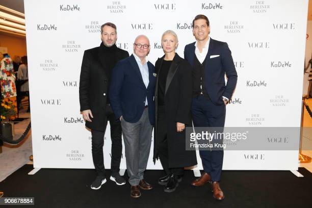 Marcus Kurz Andre Maeder Christiane Arp and Nico Heinemann during the celebration of 'Der Berliner Salon' by KaDeWe Vogue at KaDeWe on January 18...