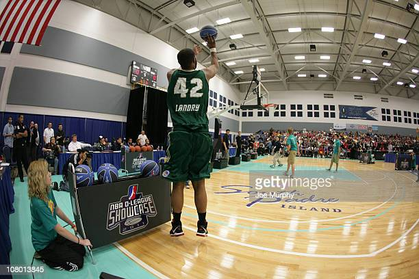 Marcus Landry of the Reno Big Horns shoots the ball during the 3 Point Shooting Contest during the 2011 NBA DLeague Showcase Slam Dunk and 3 Point...