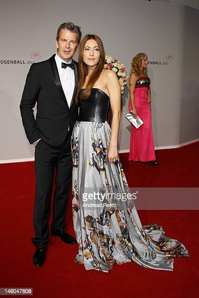 Marcus Lanz and Angela Gessmann attend the Rosenball at Hotel Intercontinental on June 9 2012 in Berlin Germany