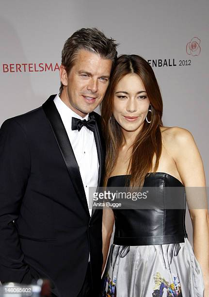 Marcus Lanz and Angela Gessmann attend the 'Rosenball' at Hotel Intercontinental on June 9 2012 in Berlin Germany