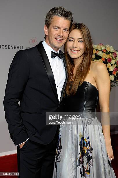 Marcus Lanz and Angela Gessmann attends the Rosenball at Hotel Intercontinental on June 9, 2012 in Berlin, Germany.