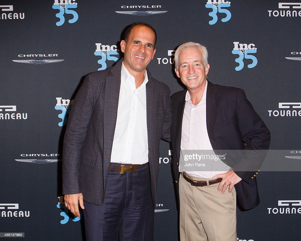 Marcus Lemonis and Eric Schurenberg attend Inc. Magazine 35th Anniversary Party at Tourneau Time Machine on September 9, 2014 in New York City.
