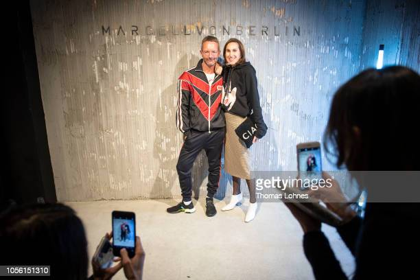 Marcus Luft and Annette Weber attend the Marcell von Berlin Pop Up Store Opening Party Goethestrasse on November 1 2018 in Frankfurt am Main Germany