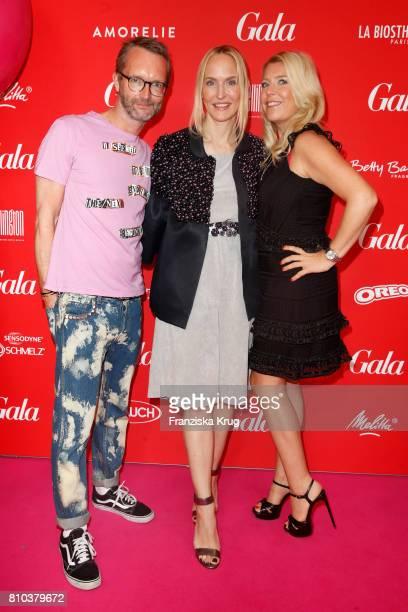 Marcus Luft Anne MeyerMinnemann and Astrid Bleeker attend the Gala Fashion Brunch during the MercedesBenz Fashion Week Berlin Spring/Summer 2018 at...