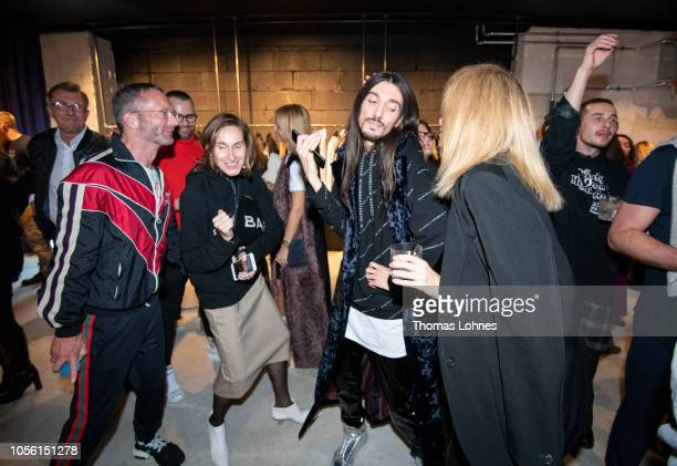 Marcus Luft Annette Weber Julian Daynov and Anna Bok attend the Marcell von Berlin Pop Up Store Opening Party Goethestrasse on November 1 2018 in...