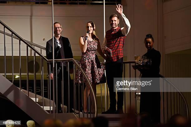 Marcus Luft of Gala Anne MeyerMinnemann of Gala and Jochen Schropp attend GALA Christmas Shopping Night 2015 at Alsterhaus on November 19 2015 in...