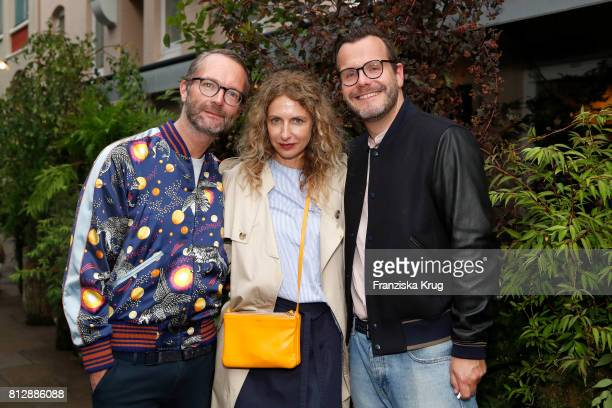Marcus Luft Sue Giers and Heiko Mundt attend the 'Krug Kiosk' Event on July 11 2017 in Hamburg Germany