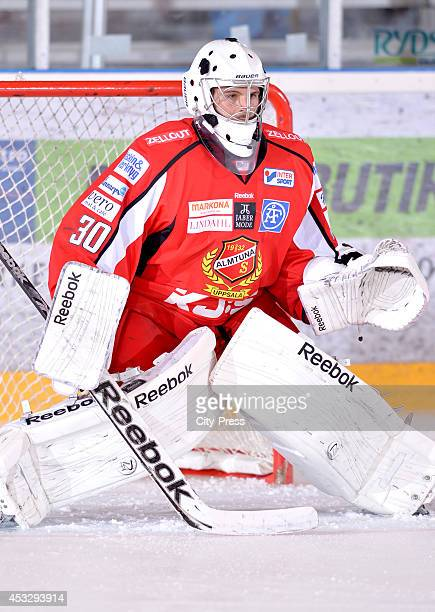 Marcus Lundell during a Hockey Allsvenskan game in Uppsala Sweden