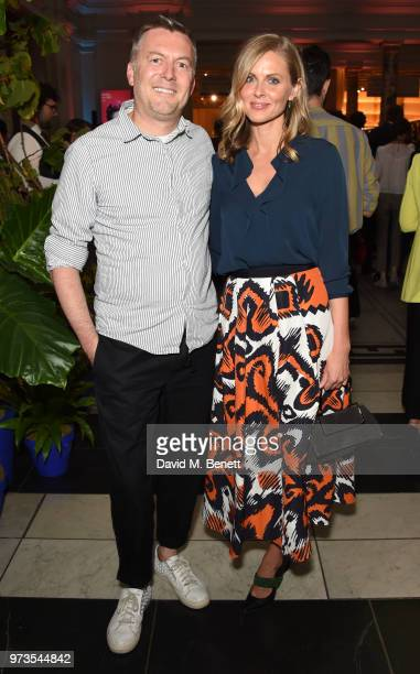 Marcus Lupfer and Donna Air attends a private view of 'Frida Kahlo Making Her Self Up' at The VA on June 13 2018 in London England