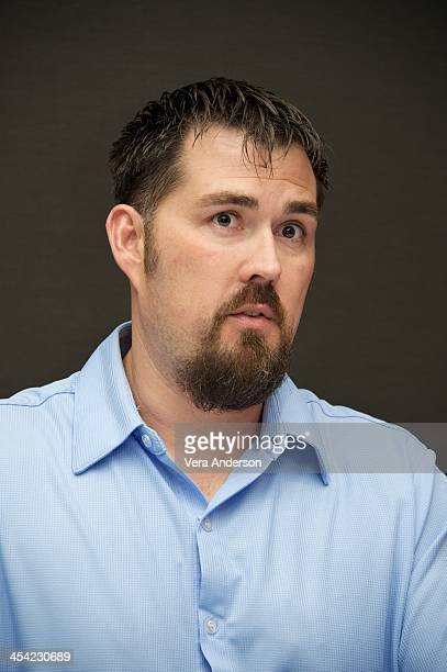 Marcus Luttrell at the Lone Survivor Press Conference at Mandarin Oriental Hotel on December 6 2013 in New York City