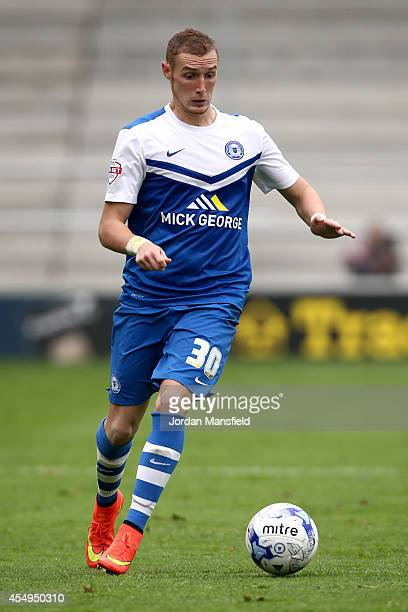 Marcus Maddison of Peterborough in action during the Sky Bet League One match between Peterborough United and Port Vale at London Road Stadium on...