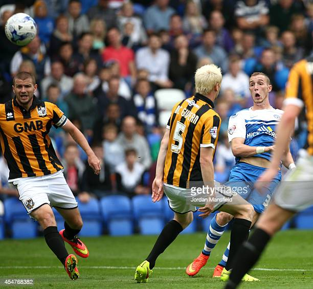 Marcus Maddison of Peterborough scores to make it 10 during the Sky Bet League One match between Peterborough United and Port Vale at London Road...