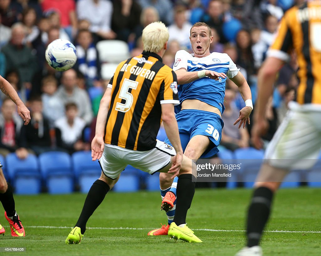 Marcus Maddison of Peterborough scores to make it 1-0 during the Sky Bet League One match between Peterborough United and Port Vale at London Road Stadium on September 6, 2014 in Peterborough, England.