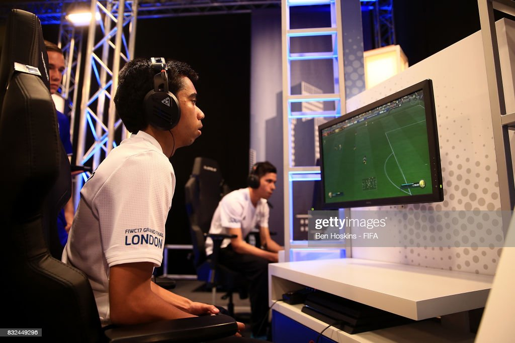 Marcus 'Marcus_7170' Gomes of Australia in action during his match against Lucas 'Lucasrep_98' da Costa of Brazil during day one of the FIFA Interactive World Cup 2017 on August 16, 2017 in London, England.