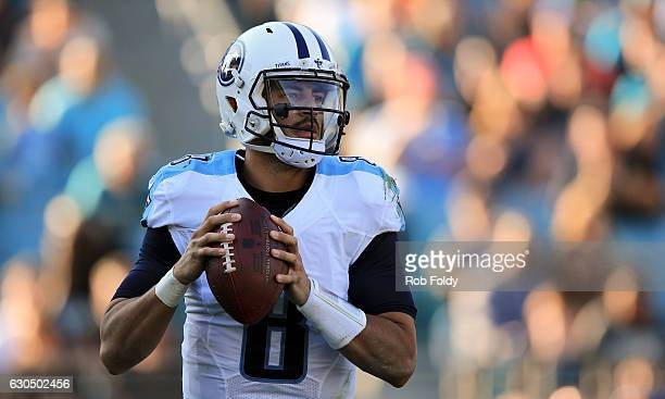 Marcus Mariota of the Tennessee Titans in action during the second half of the game against the Jacksonville Jaguars at EverBank Field on December 24...