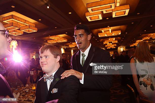 Marcus Mariota winner of the Maxwell Award for College Player of the Year attends the 78th Annual Maxwell Football Club Awards Gala at the Tropicana...