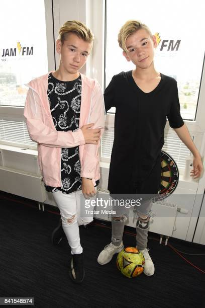 Marcus Martinus are seen during their visit to 936 JAM FM on September 1 2017 in Berlin Germany