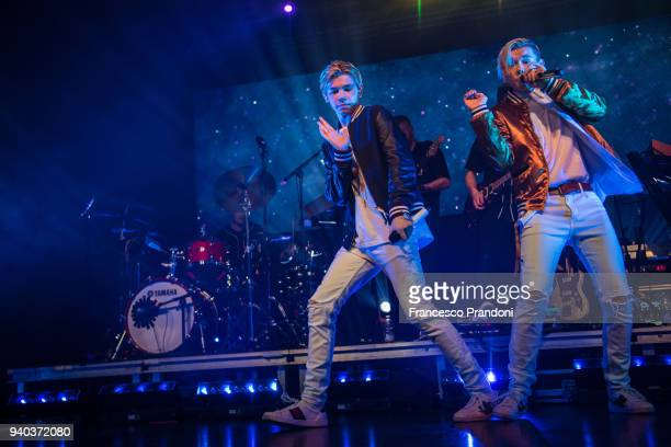 Marcus Martinus perform on stage at Fabrique on March 30 2018 in Milan Italy