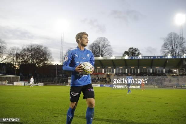 Marcus Mathisen of Halmstad BK during the Allsvenskan match between Halmstad BK and Athletic FC Eskilstuna at Orjans Vall on October 28 2017 in...
