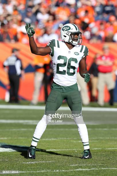 Marcus Maye of the New York Jets in action during the game against the Denver Broncos at Sports Authority Field At Mile High on December 10 2017 in...