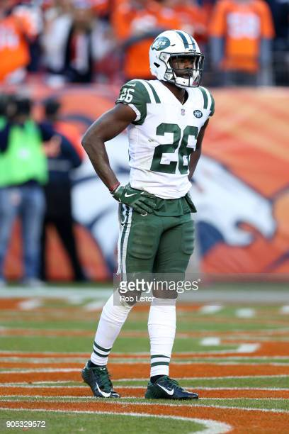 Marcus Maye of the New York Jets looks on during the game against the Denver Broncos at Sports Authority Field At Mile High on December 10 2017 in...