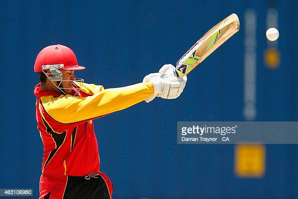 Marcus McGregorCassidy of South Australia bats against Western Australia during the 20415 Imparja Cup on February 10 2015 in Alice Springs Australia