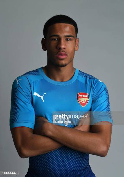 Marcus McGuane of Arsenal during an Arsenal Magazine Photoshoot at London Colney on January 8 2018 in St Albans England