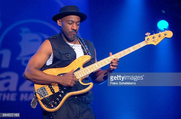 Marcus Miller, bass, performs on July 14th 2002 at the North Sea Jazz Festival in the Hague, Netherlands.