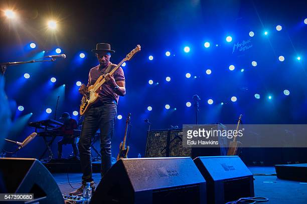 Marcus Miller performs at Stravinski auditorium on July 14 2016 in Montreux Switzerland