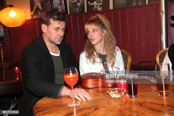 Marcus Mittermeier alias Harald Neuhauser and Bernadette Heerwagen alias Angelika Flierl during the 'Muenchen Mord' tv series on set photo call on...