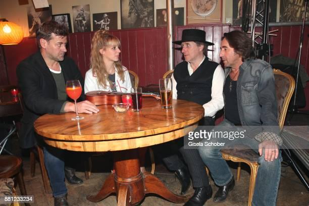 Marcus Mittermeier alias Harald Neuhauser, Bernadette Heerwagen alias Angelika Flierl, Michael Fitz and Dieter Landuris during the 'Muenchen Mord' tv...