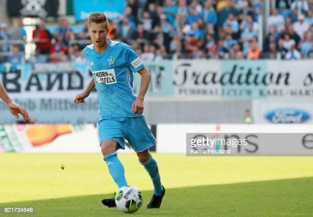 Marcus Mlynikowski of Chemnitz during the 3Liga match between Chemnitzer FC and FSV Zwickau at community4you Arena on July 23 2017 in Chemnitz Germany