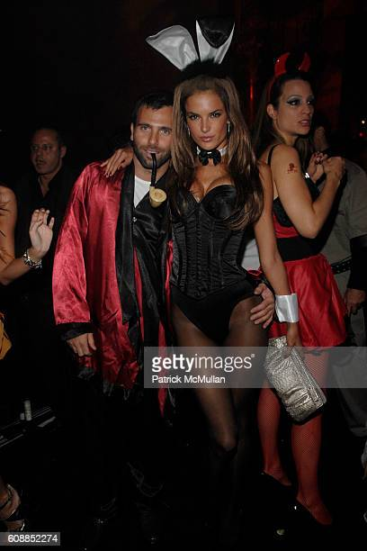 Marcus Montenegro and Alessandra Ambrosio attend ROBERTO and EVA CAVALLI and GIUSEPPE CIPRIANI Along With ROBERTO CAVALLI VODKA Host a Halloween...