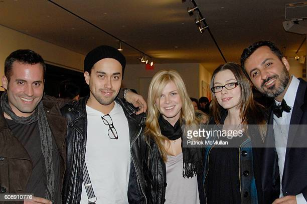 Marcus Montenegro Sebastian Nicolas Stephany Slick Corinne Russel and Mazdack Rassi attend A MILK GALLERY PROJECT Presents RUSSELL YOUNG HORSE POWER...