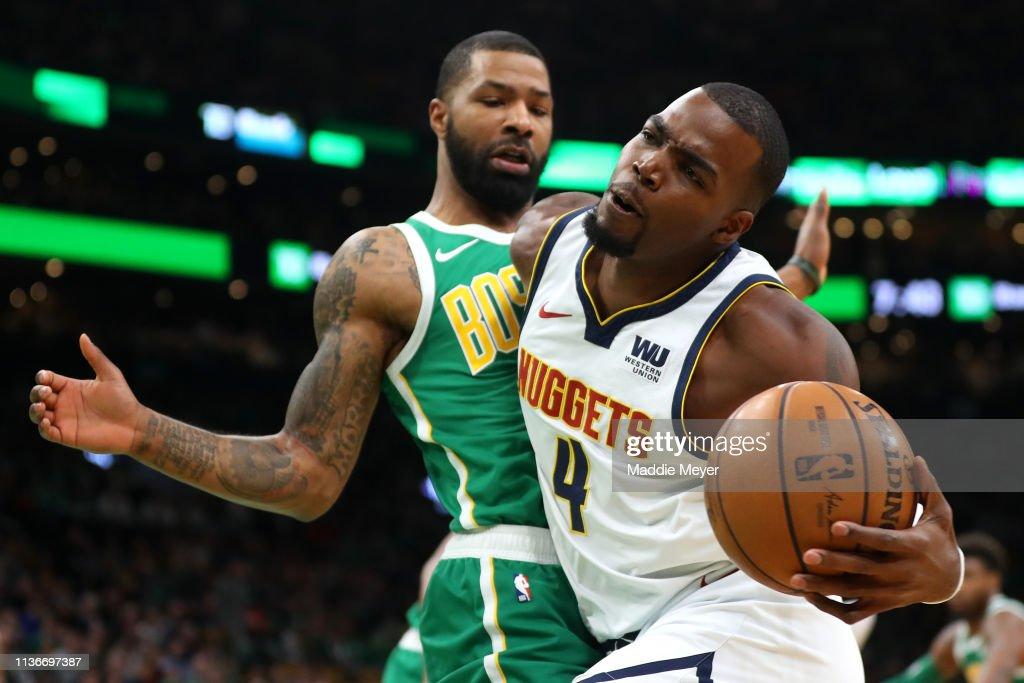 Denver Nuggets v Boston Celtics : News Photo