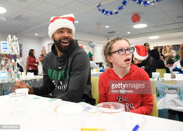 Marcus Morris of the Boston Celtics participates in a hospital visit on December 14 2017 at Boston Children's Hospital in Boston Massachusetts NOTE...