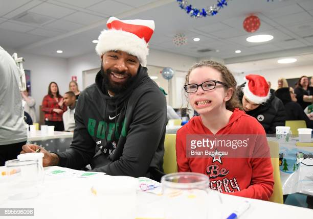 Marcus Morris of the Boston Celtics participates in a hospital visit on December 14 2017 at Boston Children's Hospital in Boston Massachusetts NOTE...
