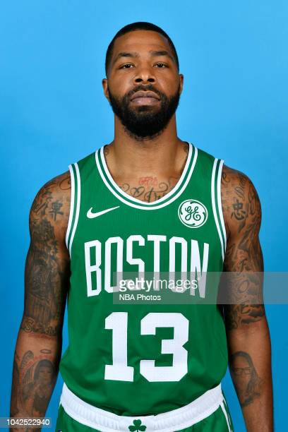 Marcus Morris of the Boston Celtics poses for a head shot at media day on September 24 2018 at the High Output Studios in Canton Massachusetts NOTE...