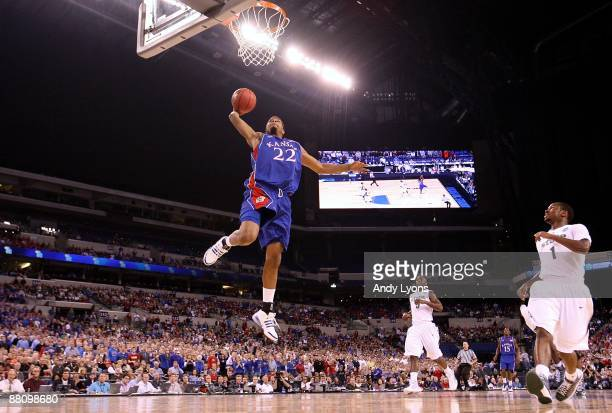 Marcus Morris of the Kansas Jayhawks drives for a dunk attempt against the Michigan State Spartans during the third round of the NCAA Division I...