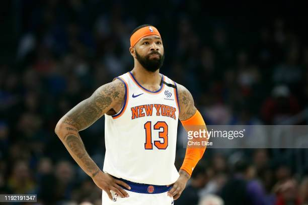 Marcus Morris of the New York Knicks looks on against the LA Clippers on January 5 2020 at STAPLES Center in Los Angeles California NOTE TO USER User...