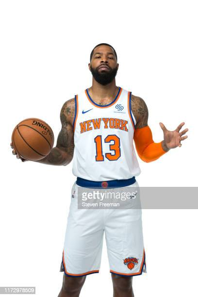 Marcus Morris of the New York Knicks poses for a portrait during media day on September 30 2019 at the Madison Square Garden Training Center in...