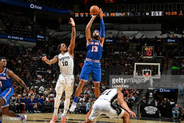 Marcus Morris of the New York Knicks shoots the ball against the San Antonio Spurs on October 23 2019 at the ATT Center in San Antonio Texas NOTE TO...