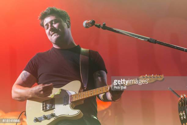 Marcus Mumford from Mumford Sons performs at Latitude Festival Gentlemen of the Road Takeover at Henham Park Estate on July 15 2017 in Southwold...