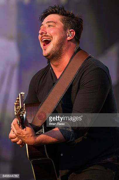Marcus Mumford of Mumford and Sons performs as part of British Summer Time Festival at Hyde Park on July 8 2016 in London England