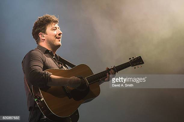 Marcus Mumford of Mumford and Sons performs at BJCC on April 10 2016 in Birmingham Alabama