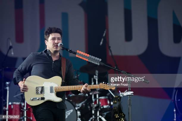 Marcus Mumford of Mumford and Sons performs at Longitude Festival at Marlay Park on July 16 2017 in Dublin Ireland