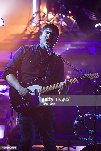 Marcus Mumford of Mumford and Sons performs during the Apple Music Festival 2015 at The Roundhouse on September 27 2015 in London England